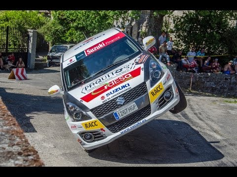 Librada Rallye Ourense 2014 - HD - Close Call - Rally car on two wheels - SJ4000 Camera